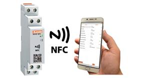 Time relay, counter and hour counter with NFC tecnology and APP